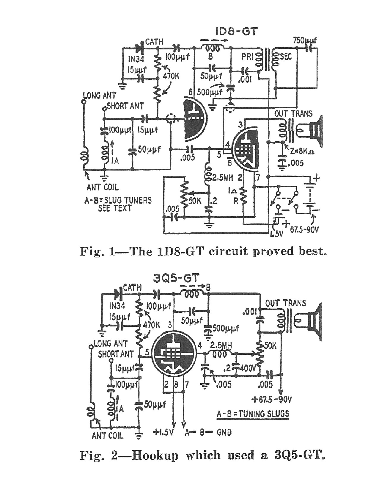 Peebles Originals Old Magazine Articles Ham Tube Radio Schematic As Well Fm Transmitter Circuit 1d8 3q5